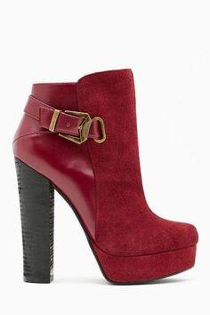 Shoe Cult Apex Leather Bootie - Oxblood