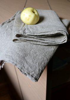 2 Organic Linen Towels  Rustic Soft Towel by LinenLifeIdeas