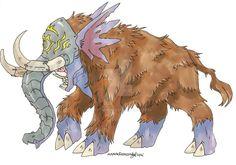 :Digimon: Mammothmon by Clytemnon