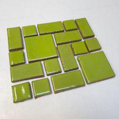 Savvy Squares Light Kiwi #1062 from Mercury Mosaics for $70.00