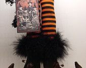Primitive Wicked Witch Legs by oldelangfarms on Etsy