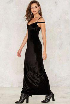 Nasty Gal Maxi Driver Velvet Dress ($68)