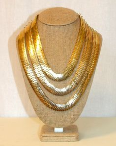 Gold Statement Necklace by Violet Clover