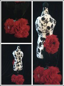 Gothic love !!! pin cushion .