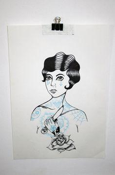Items similar to a Rose dagger, original illustration on Etsy Rose And Dagger, Illustrations, The Originals, Etsy, Art, Art Background, Kunst, Illustration, Performing Arts