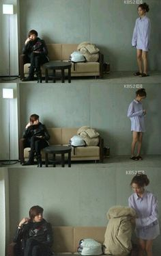 "[Spoilers]Jang Geun Suk flustered by YoonA's ""no pants fashion"" on 'Love Rain' #allkpop"