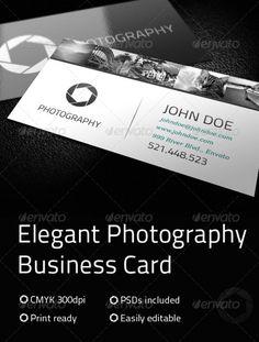 Elegant Photography Business Card Premium Template best namecard