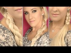 Easy everyday hairstyles for long hair without heat   Cute bohemian braids for school, work, party