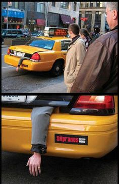 You've gotta love New York baby! HBO Sopranos Ad. God I miss The Sopranos every week!