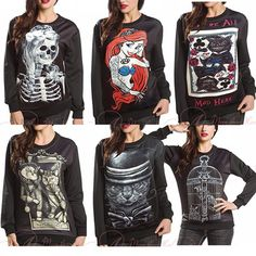 2015 Autumn Winter Women Men 3D Hoodies Pullovers Sweatshirts Sudaderas Harajuku Top Skull Mermaid Cat Bird Poker Black Milk