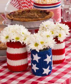 Americana jar cozies