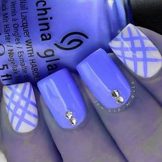 Cute Nail Designs For Spring – Your Beautiful Nails Cute Nail Art, Cute Nails, Pretty Nails, Plaid Nail Art, Plaid Nails, Nails Opi, Diy Nails, Neon Nails, Blue Nail