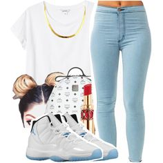 Untitled #570 by iluvhaters143-749 on Polyvore featuring Monki, MCM and Yves Saint Laurent