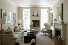 Manhattan duplex - traditional - living room - new york - by Christine Markatos Design