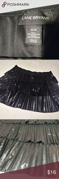 Lane Bryant Plus Size Black Skirt Pleaded Black Plust Size Skirt. Lane Bryant. Size is 26/28 with an elastic waistband. Lining and outer shell both 100% Polyester.  Priced to Sell! Lane Bryant Skirts Mini