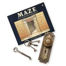 Each page is a room, with doors that lead to other rooms. Your challenge: Use logic, reading and problem-solving skills to find your way from room 1 to room 45 and back again. 90 pages. Keys and door knob not included with the Maze Book.
