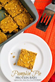 Pumpkin Pie Protein Bars | The Adventures of Z & K% 20#glutenfree #dairyfree #lowfodmap