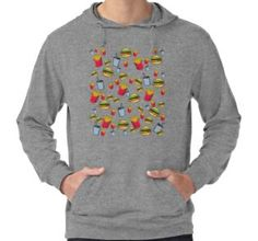 'fast food, fries burger and cola' Lightweight Hoodie by rockingarts Fries, Fast Food, Photoshop, Trends, Hoodies, Sweatshirts, V Neck T Shirt, Hamburger, Classic T Shirts