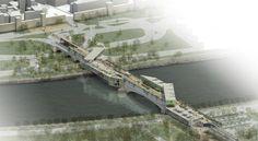 Architecture Visualization, Architecture Design, Bridge Design, Pedestrian Bridge, Trondheim, River, Outdoor, Inspiration, Studios