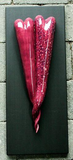 Ceramic hearts by Anna Katarina Haaland