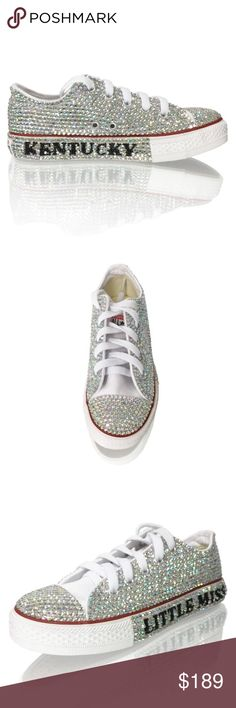 Preteen Tween Crystal Converse Sneakers Preteen Tween Crystal Converse Sneakers. Customize your name, letters, words, on sneakers, crystalized for kids and tweens. Order today arrives in 15-20 days, www.marcdefang.com Shoes Sneakers