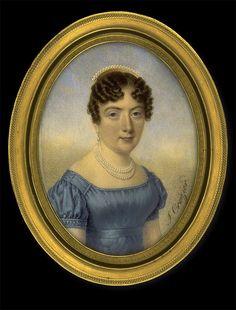J. Croizier, Lady in Blue Dress, ca. 1820