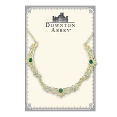 Downton Abbey® Boxed Gold-Tone Filigree and Green Crystal Scallop Necklace