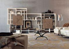 marchettimaison.com PG 700 BOOKCASES Collection cabinet NATURA