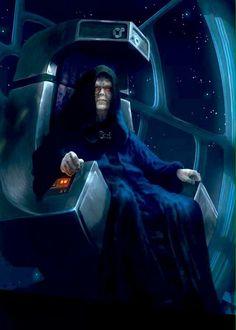 Star Wars: Episode VI, The Return of the Jedi: Emperor Palpatine Star Wars Saga, Star Wars Fan Art, Star Wars Darth, Star Trek, Darth Vader, Star Wars Pictures, Star Wars Images, Star Wars Brasil, Emperor Palpatine