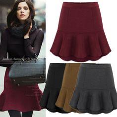 2015 nova moda outono inverno mulheres sereia saia lápis Casual lã saia de cintura alta das mulheres Mini saia Plus Size 72017 em Saias de Roupas e Acessórios Femininos no AliExpress.com | Alibaba Group