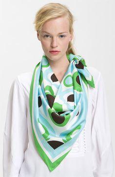 kate spade new york 'solar' silk scarf