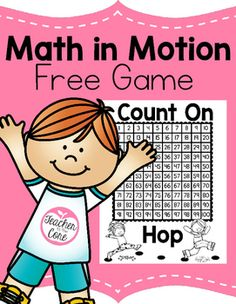 Counting On Freebie- Math in Motion Game from Teacher to the Core! Free Math Game from Teacher to the Core-You are going to love this! Teaching Jobs, Teaching Kindergarten, Teaching Ideas, Free Math Games, Fun Math, Math Classroom, Future Classroom, Classroom Ideas, Anchor Charts First Grade