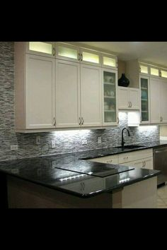 Love the backsplash and counter tops