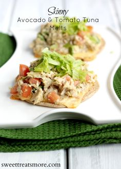Skinny Avocado & Tomato Tuna Melts from @Kristy Lumsden {Sweet Treats & More}