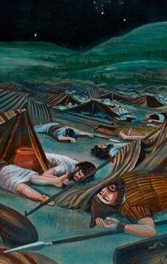 Soldados muertos en el campamento de los asirios