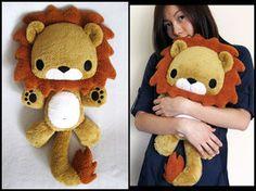 This lion is just gorgeous. By melkatsa on deviantART (Diy Pillows Kawaii) Sewing Stuffed Animals, Cute Stuffed Animals, Stuffed Animal Patterns, Sewing Toys, Sewing Crafts, Sewing Projects, Kawaii Plush, Cute Plush, Felt Crafts