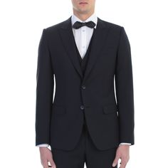 Dolce&Gabbana. Blue wool and silk Martini suit. Made In Italy.