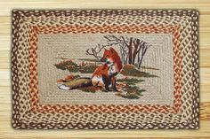 Fox | Print Patch | Rectangle Braided Rug . $29.95. This 100% Jute (see our information pages to find out more), Printed, Braided Rug features beautiful artwork and wonderful craftsmanship. Don't worry about where to put it, this rug is easy to place; think front door, back door, kitchen, bathroom, living room, porch, patio, family room, den, the bottom of the stairs and even by the hot tub! These rugs go great just about anywhere. Clean with mild soap and water or dry ...