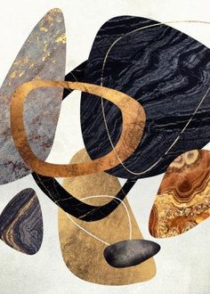 """Beautiful """"Abstract Pebbles III"""" metal poster created by SpaceFrog Designs. Our Displate metal prints will make your walls awesome. 3d Wall Art, Canvas Wall Art, Abstract Nature, Abstract Art, Collage Art, Collages, Nature Posters, Aesthetic Collage, Abstract Pattern"""