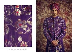 Purple color and floral Motiff by  Gaurang Shah!  www.shopzters.com