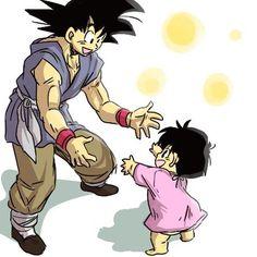 Goku and Pan「おじいちゃんといっしょ!」/「うら」のイラスト [pixiv]