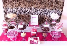 Brown u0026 Pink Cheetah Print Birthday Party Ideas : cheetah party decoration ideas - www.pureclipart.com