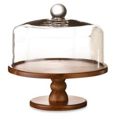 Madera Pedestal Cake Plate with Glass Dome - BedBathandBeyond.com  $60