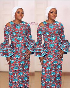 African Print Dresses 2018 Its a beautiful Monday noon and guess what, We got some beautiful and stunning African print dresses styles that made of ankara print for those of you that like to rock ankara styles. African Print Dresses, African Dresses For Women, African Wear, African Attire, African Fashion Dresses, African Women, Ankara Fashion, African Prints, African Patterns