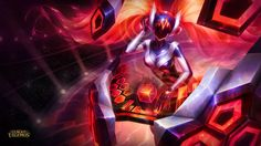 """DJ Sona is Riot's amplification of the concept to the extreme. They've created not one model, but three separate versions complete with different """"turntable"""" instruments. The three versions of the character can be toggled throughout the course of the game, and each serenades the user with a different type of electronic music."""