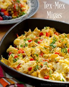 Tex-Mex Migas. - I frequently make my eggs with onion, hot pepper & cheese, will have to try adding tortilla chips