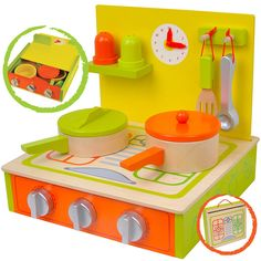 wooden kitchen toy by bee smart | notonthehighstreet.com