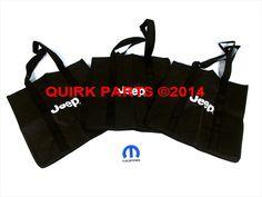 2014 Jeep Cherokee Reusable Shopping Bags SAVE THE ENVIRONMENT NOW MOPAR OEM #MOPAR