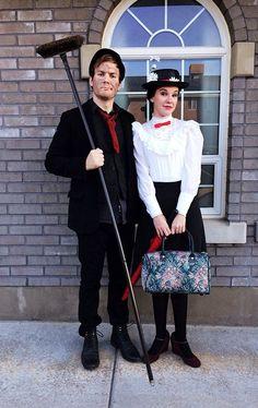 Mary Poppins and Bert. (Diy Halloween Mary Poppins)