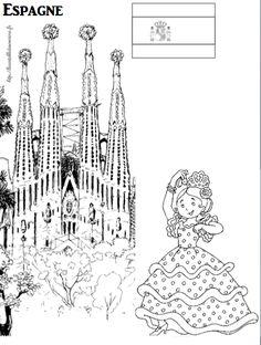 Coloriage imprimer imagier de l 39 espagne espagne - Coloriage espagnol ...
